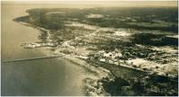 Rio Amazonas : [Trapiche Eliezer Levy] : vista aérea da cidade : Macapá, AP