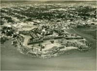 Rio Amazonas : Fortaleza de São José de Macapá : vista aérea da cidade : Macapá, AP