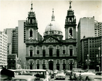 [Vista panorâmica da cidade] : Igreja da Candelária : Rio de Janeiro (RJ)