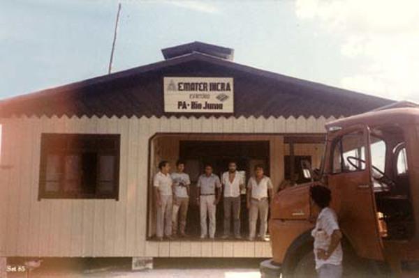 Agência da EMATER em Novo Aripuanã (AM) - 1985