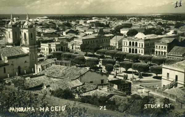 [Vista panorâmica da cidade] : Praça Floriano Peixoto : [Palácio Floriano Peixoto] : Maceió, AL - [19--]