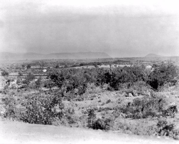 Relevo na cidade de Rodelas (BA) - fev. 1952