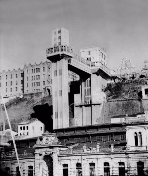Elevador Lacerda em Salvador (BA) - mar. 1952