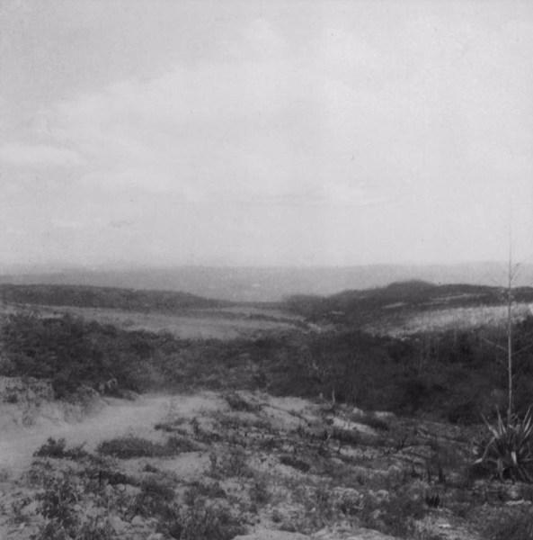 Vegetação na cidade de Itororó (BA) - 1962