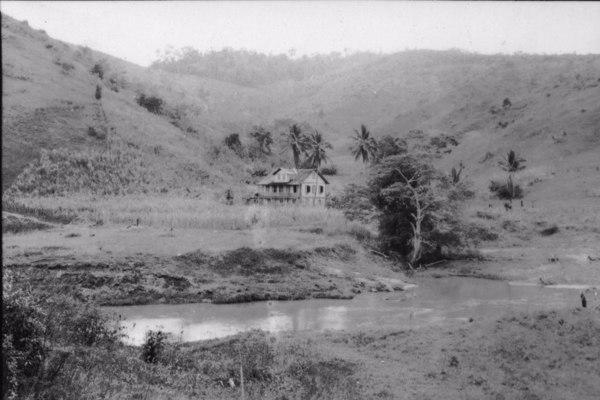 Casa de fazenda em, com canavial entre Ibiraçu e Palmeira (ES) - 1952