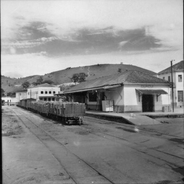 Estação da E. F. Leopoldina - M. Guaçui (ES) - 1957