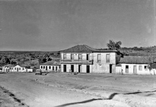 Aspecto da cidade de Luziâia (GO) - 1954
