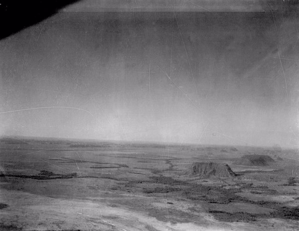 Vista aérea parcial de testemunhos de Carolina (MA) - 1953