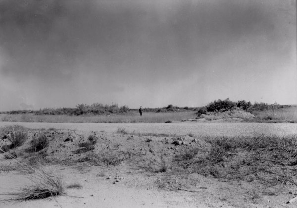 Forma de erosão em plano em Uberaba (MG) - jun. 1954