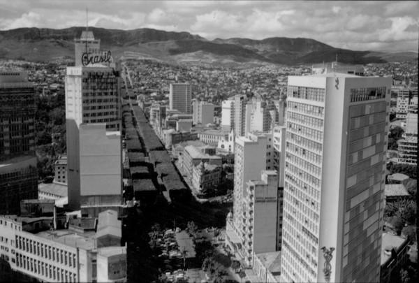 Avenida Afonso Pena em Belo Horizonte (MG) - 1956