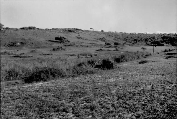 Vegetação e relevo no Povoado de Águas Santas em Tiradentes (MG) - 1954