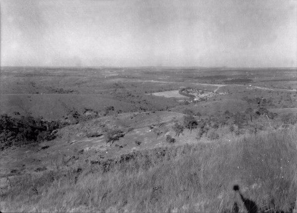 Relevo da cidade de Serra da Saudade (MG) - 1954