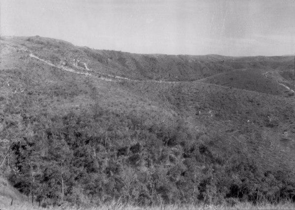 Estrada que liga Quartel Geral a Cedro do Abaeté (MG) - 1954