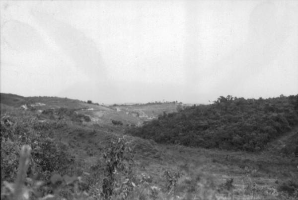 Serra do Caraça vista de Santa Bárbara (MG) - set. 1952