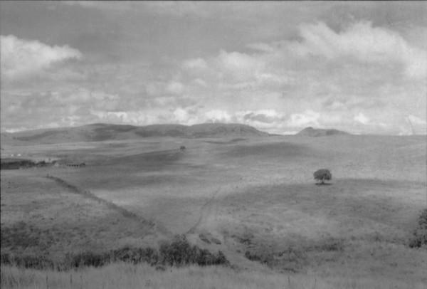 Relevo na cidade de Caldas (MG) - 1958
