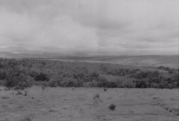 Relevo na cidade de Paraguaçu (MG) - 1958