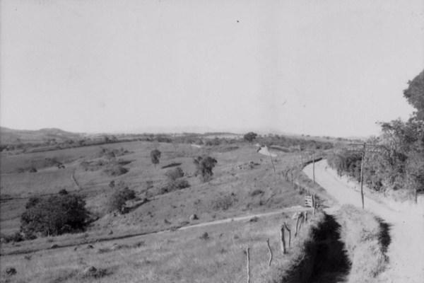 Relevo da cidade de Lavras (MG) - 1958