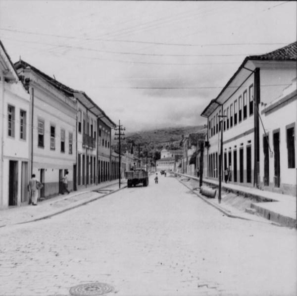 Rua principal de Mar de Espanha (MG) - 1958