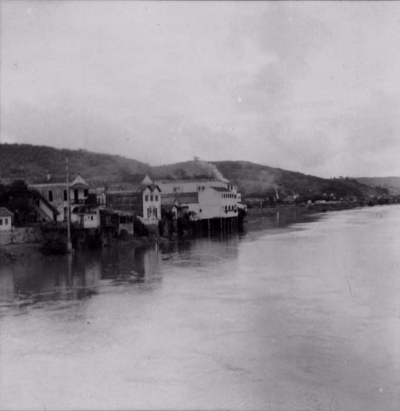 Rio Paraíba do Sul em Além Paraíba (MG) - 1958