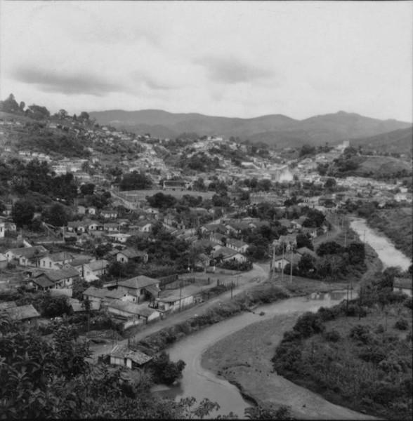 Vista panorâmica da cidade de Nova Lima (MG) - 1967