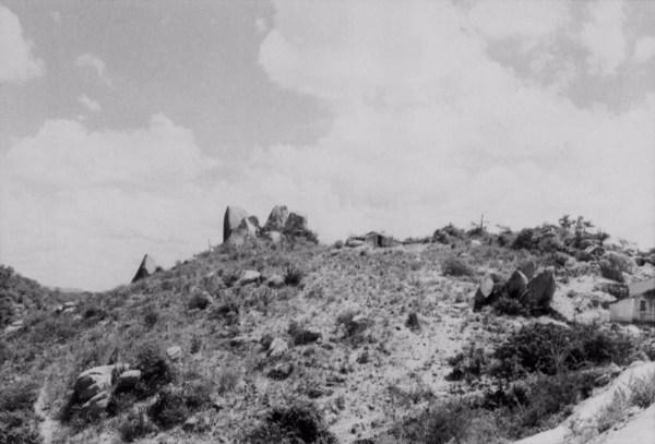 Boulders em um morro em Capoeiras (PE) - 1955