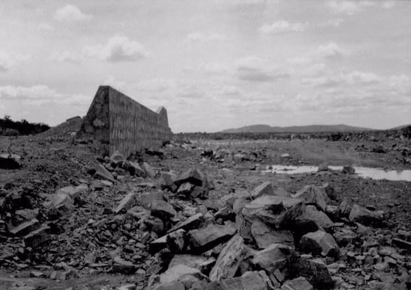 Construção do Açude de Ingazeira em Paulistana (PI) - 1957