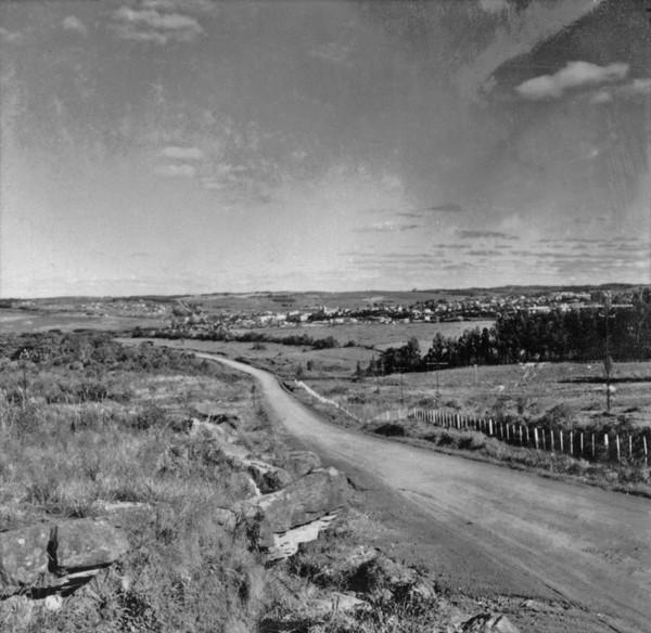 Vista da cidade de Palmeira (PR) - 1957