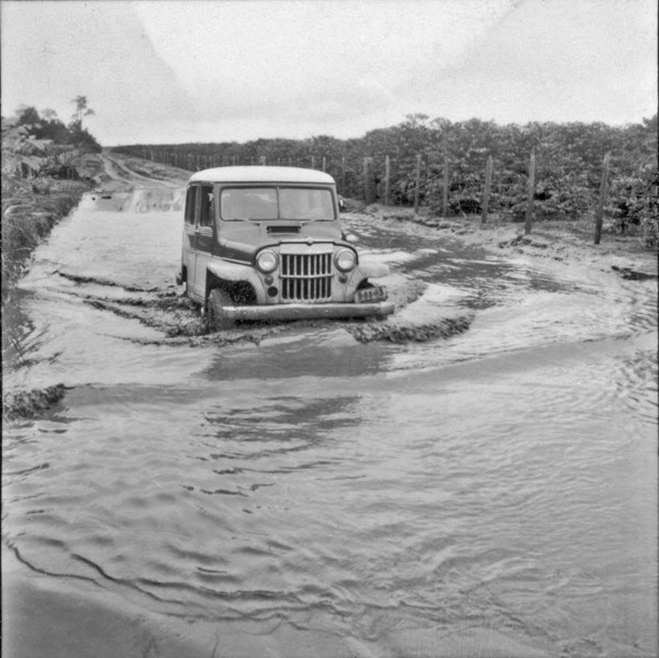 Banheira de terra roxa, no município de Paranacity (PR) - 1960