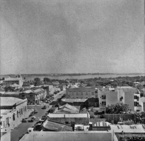 Vista do centro da cidade de Uruguaiana (RS) - 1959