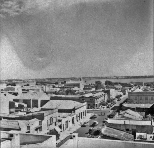 Vista do centro da cidade de Uruguaiana : Ponte Internacional (RS) - 1959