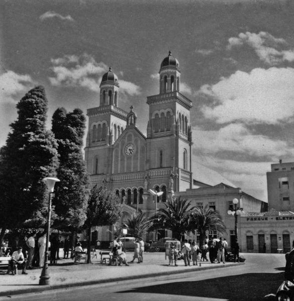 Praça principal da cidade de Passo Fundo (RS) - 1959