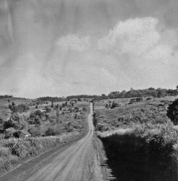 Estrada perto de Erechim (RS) - 1959