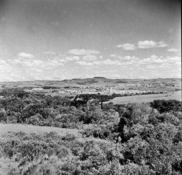 Panorâmica na direção sul da cidade de Lages (SC) - 1959