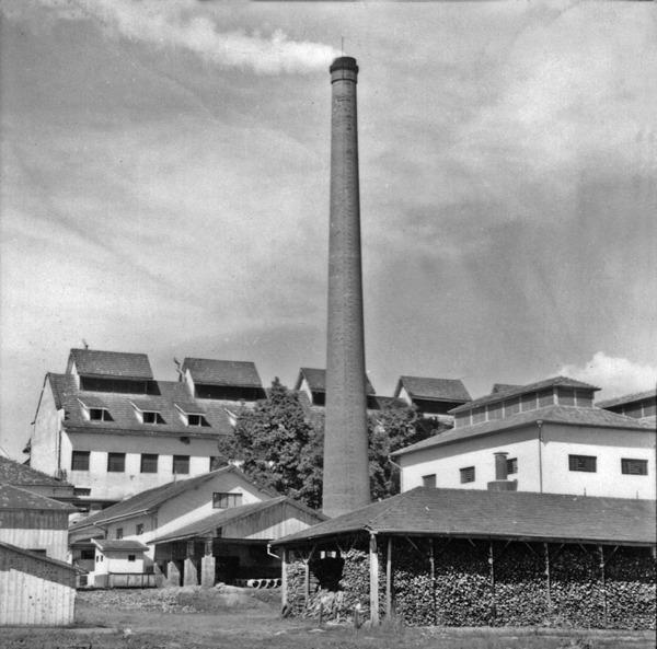 Vista da fábrica de produtos Sadia em Concórdia (SC) - 1966