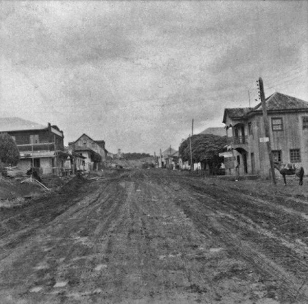 Vista da cidade de Maravilha : Frente Pioneira Irajá (SC) - 1965