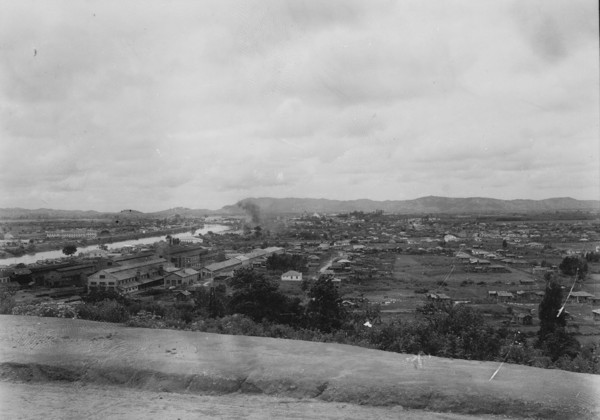 Vista geral da cidade de Tubarão (SC) - 1953