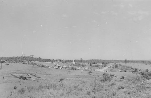 Vista geral da cidade de Campo Alegre (SC) - 1953