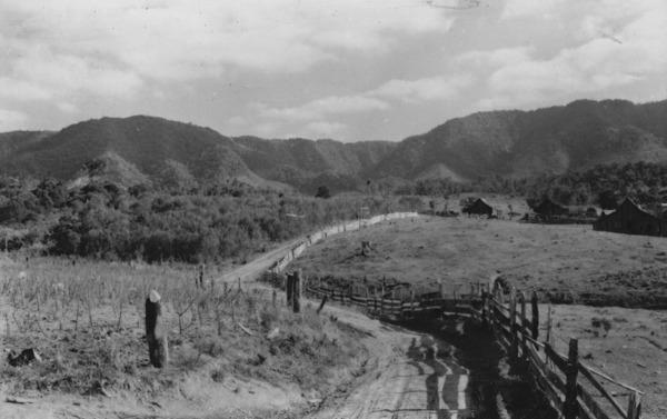 Casa de colonos em Cerro Negro (SC) - 1955