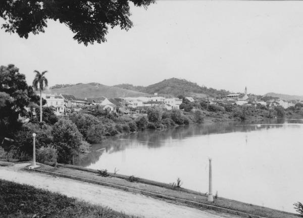 Vista da cidade de Blumenau (SC) - 1955