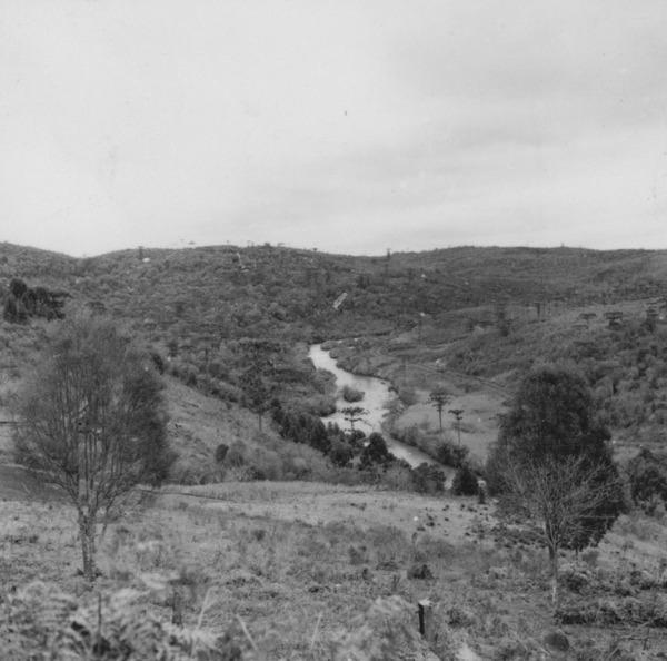 Rio do Peixe no município de Caçador (SC) - 1957