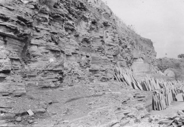Varvita, perto de Itu, em exploração (SP) - 1955