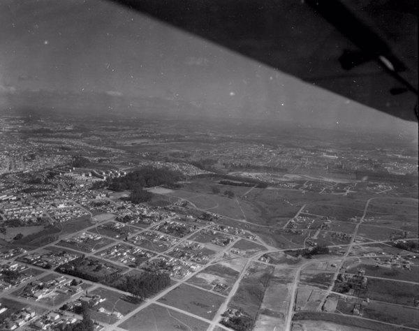 Vista aérea da cidade de São Paulo (SP) - 1956