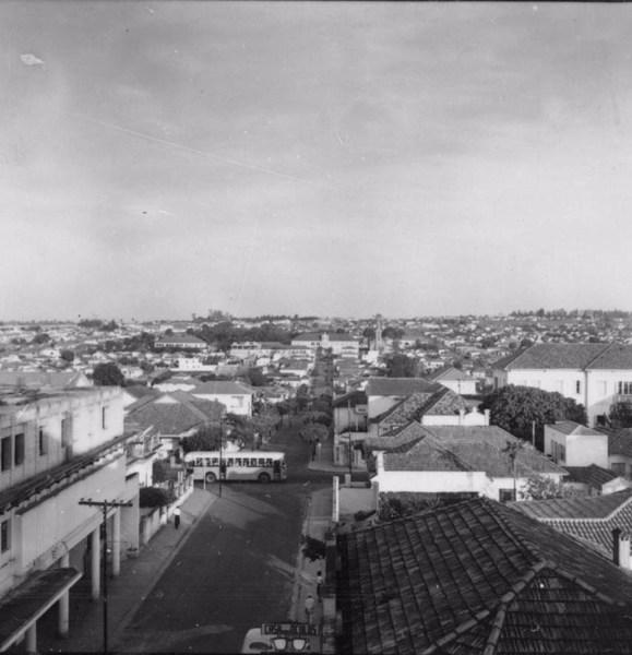 Vista parcial da cidade de São José do Rio Preto (SP) - 1957