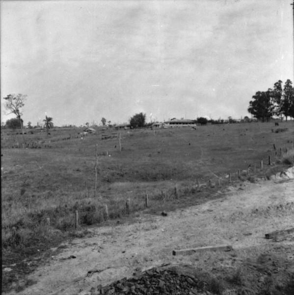 Vista de uma fazenda no vale do Rio Santo (SP) - 1957
