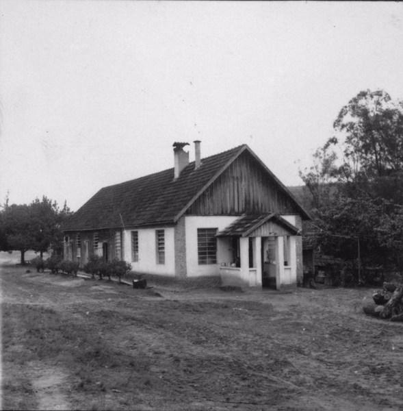 Cozinha da comunidade : Fazenda Palmas : Colônia lituana (SP) - 1957
