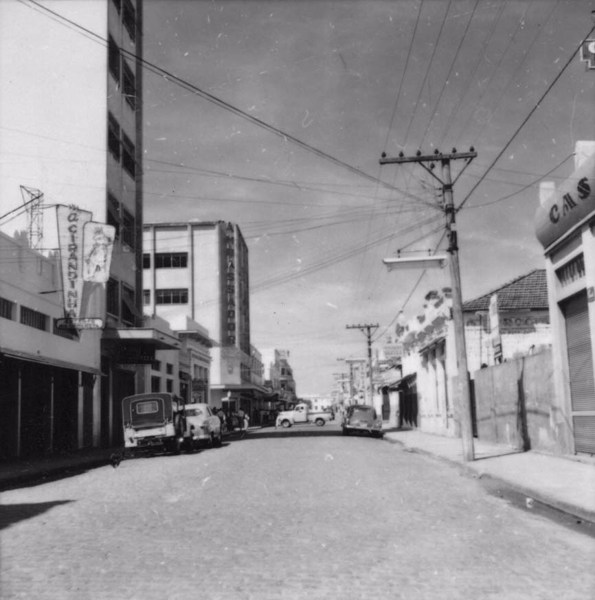 Rua principal de Presidente Prudente (SP) - 1957