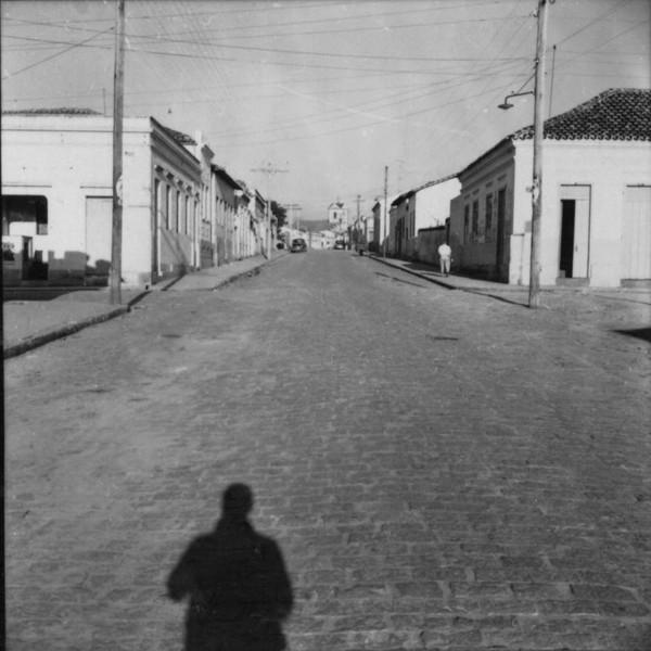 Vista de uma rua típica de Capivari (SP) - 1957