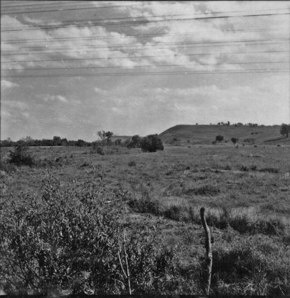 Relevo no município de Conchas (SP) - 1957