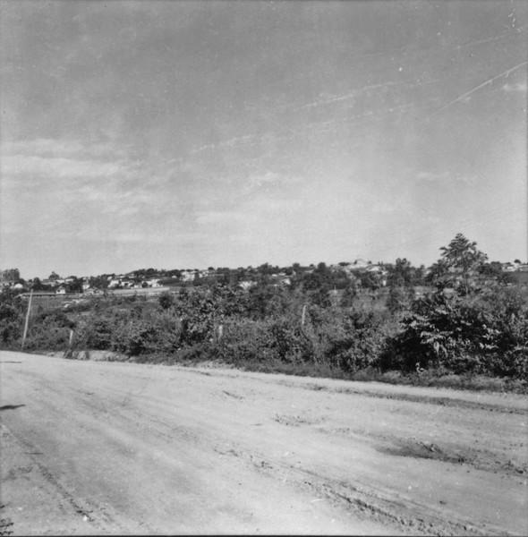 Vista parcial de Laranjal Paulista (SP) - 1957
