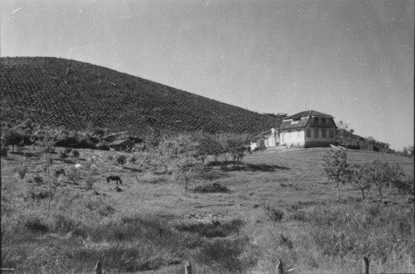 Município de Registro : de São Miguel para Sete Barras, o povoamento é quase nulo : na foto uma fazenda com casa - 1958